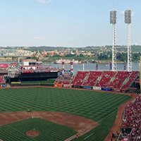 RRMS choirs singing National Anthem at Reds game