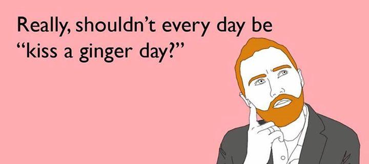 Risultati immagini per kiss a ginger day