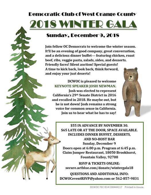 Dcwoc 2018 Winter Gala At Claim Jumper Restaurants 18050 Brookhurst