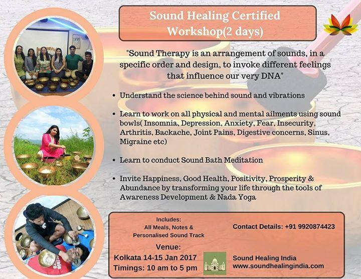 Sound Healing Certified Workshop At Kolkata Calcutta