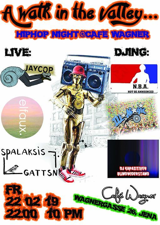 A Walk in the Valley. - HipHop Night at Caf Wagner
