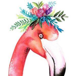 ArtNight Flamingo mit Blumenkrone am 27062019 in Dsseldorf