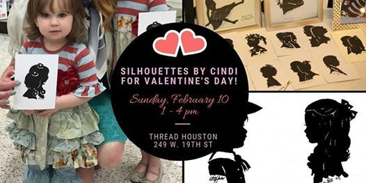 Silhoette Artist Cindi Rose at Thread for Valentines