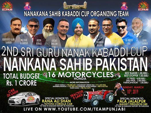 Second Nankana Sahib Kabaddi Cup