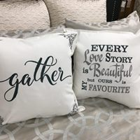 Pillow Stenciling