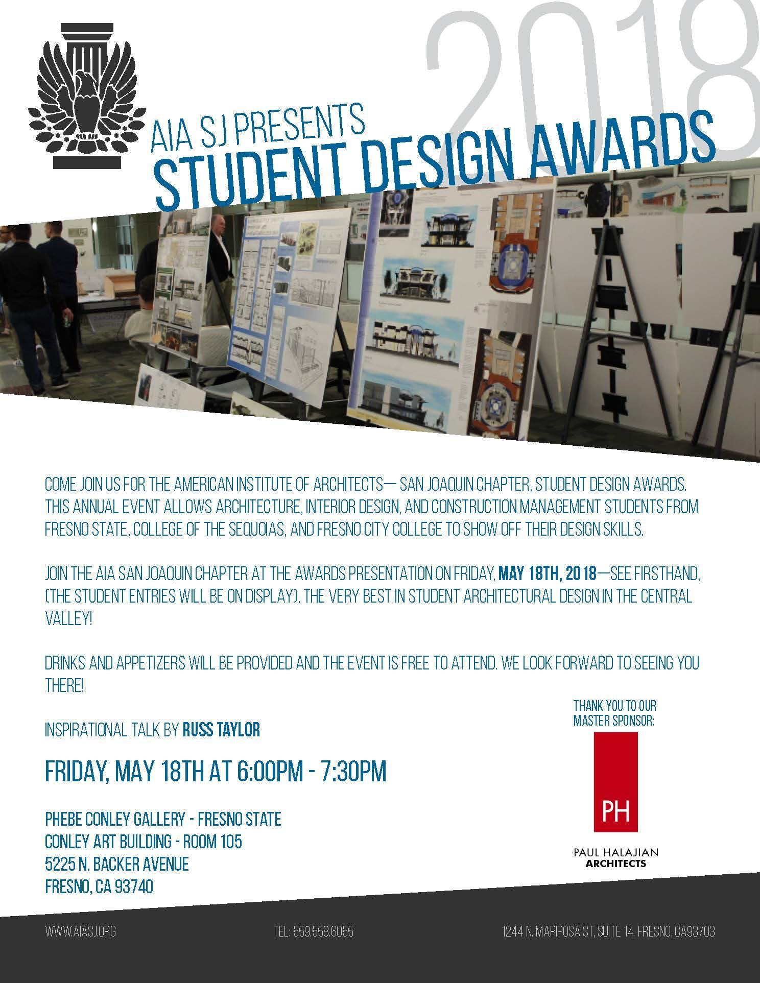 2018 student design competition awards fresno