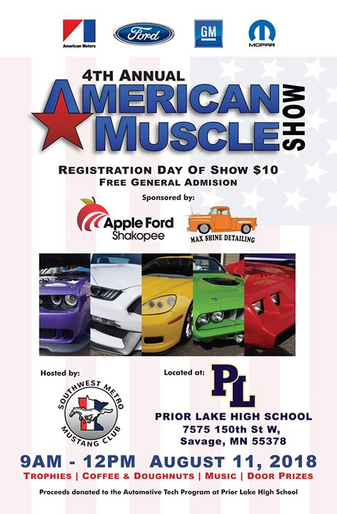 American Muscle Car Show At Prior Lake High School Savage - American muscle car show 2018