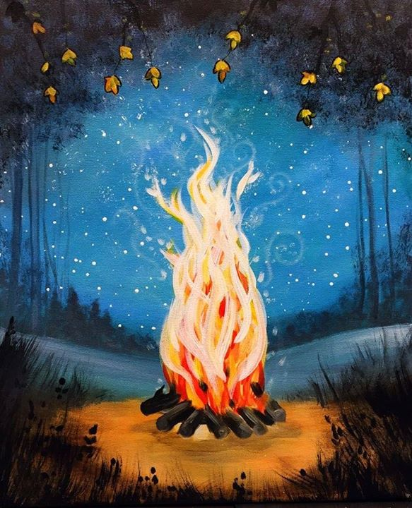Campfire glow at kountry kolours llc la salle for Painting with a twist arizona