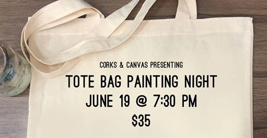 Corks & Canvas - Tote Bag Painting Night