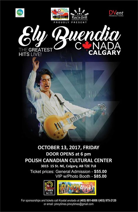 Ely Buendia the Greatest Hits Live in Calgary