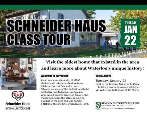 GEAR Class Visit to Schneider Haus