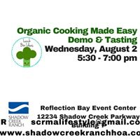 Organic Cooking Made Easy sponsored by Kroger