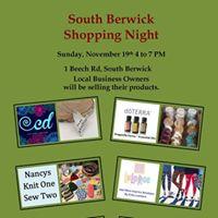 South Berwick Shopping Night