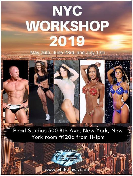 WBFF NYC Workshop 2019 at Pearl Studios, New York
