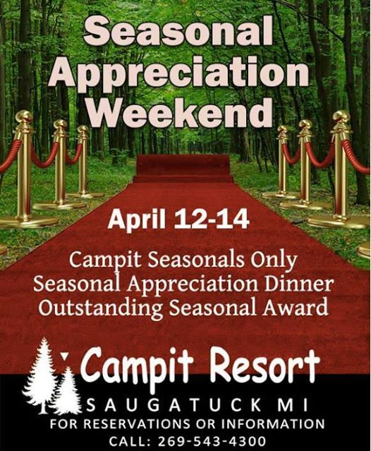 Seasonal appreciation weekend
