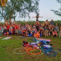 Florida Slackline Acro Fire Flow Jam