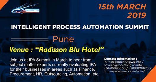 Intelligent Process Automation Summit-Pune