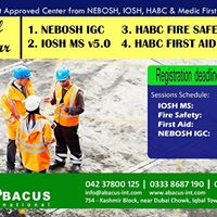Nebosh IGC Course Session - 15 Sep 2017