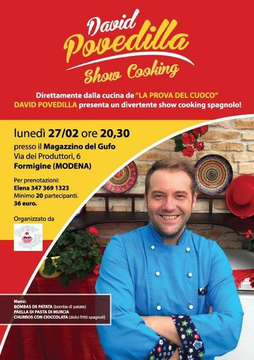 evento annullato corso di cucina spagnola con david povedilla at ... - Corsi Cucina Modena