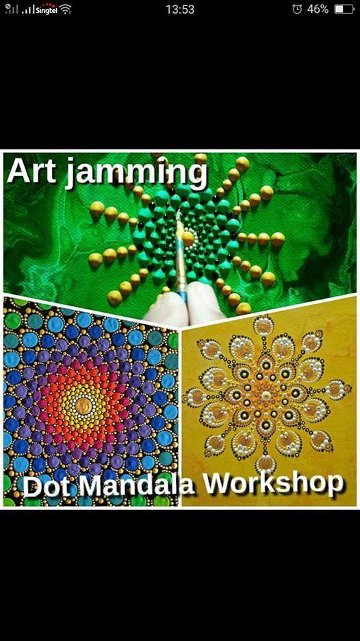Basic Dot Mandala Making Art Jamming