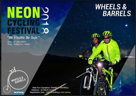 Neon Cycling Festival 2018 At Decathlon Sports India Thane Mumbai