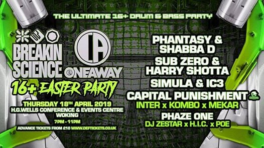 This Thurs  Breakin Science & Oneaway 16 Easter Party  Woking