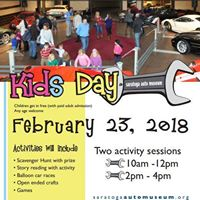 Kids Day at the Saratoga Automobile Museum
