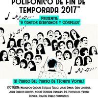 1era Muestra de Canto polifnico de fin de temporada 2017 (A