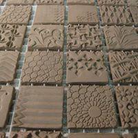 Textured Clay Tiles