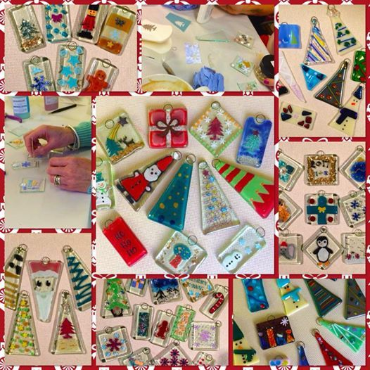 fused glass christmas decoration workshop at the artisan hub
