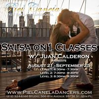 Salsa On 1 Classes Level 12 and 3 w Juan