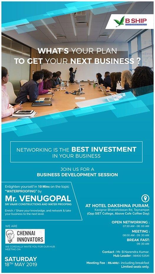 BSHIP Chennai Innovators - Business Development Session