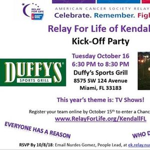 Relay For Life Kick-Off Party