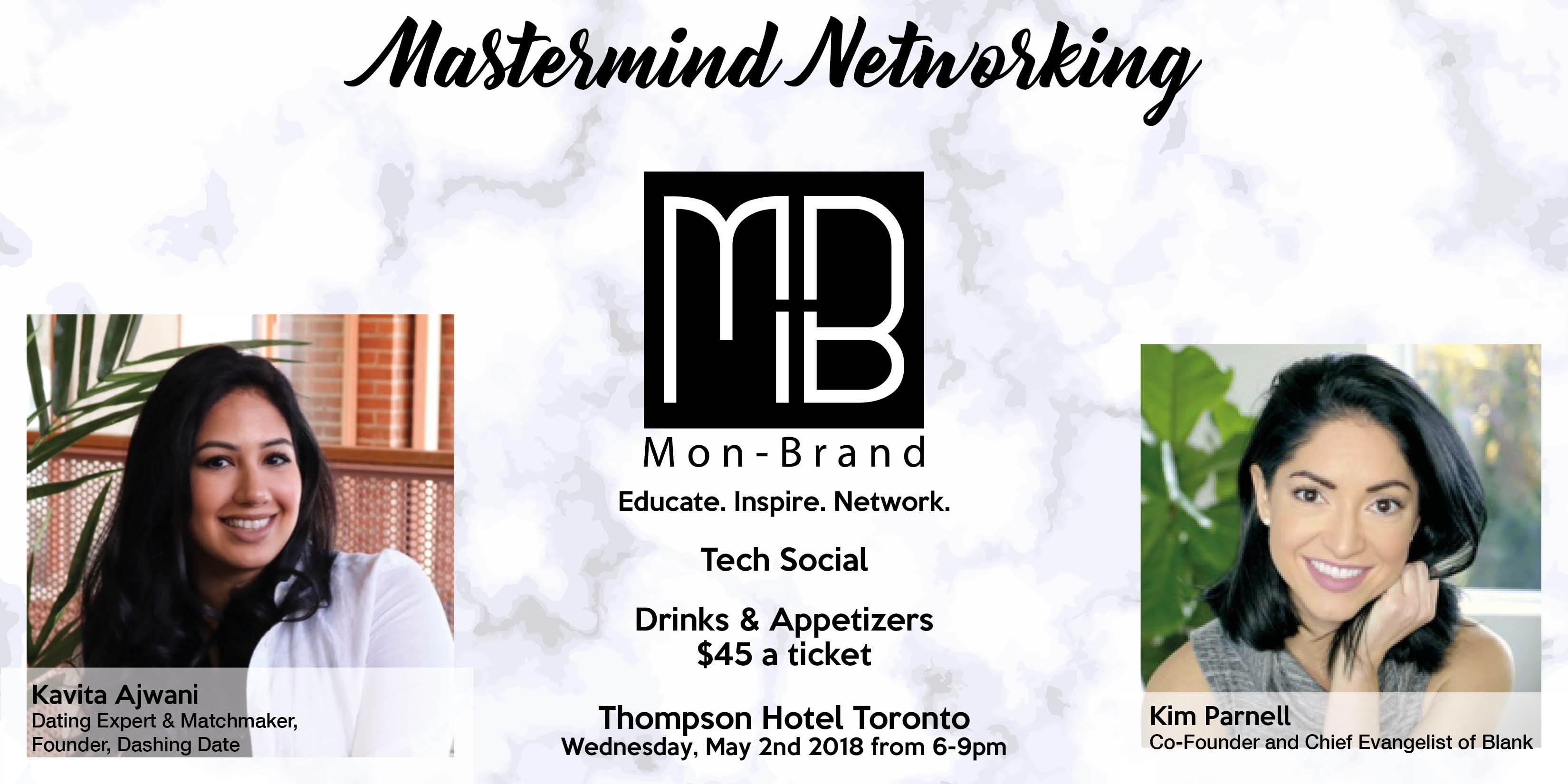 Mon-Brand Mastermind Networking Event at Thompson Toronto, Toronto