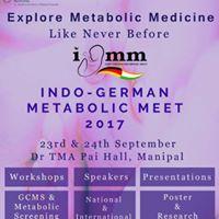 Indo-German Metabolic Meet 2017 Manipal