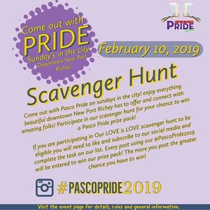 Sunday In the city With Pasco Pride an instagram scavenger hunt
