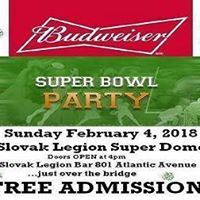 Budweiser Super Bowl Party at the Slovak Legion