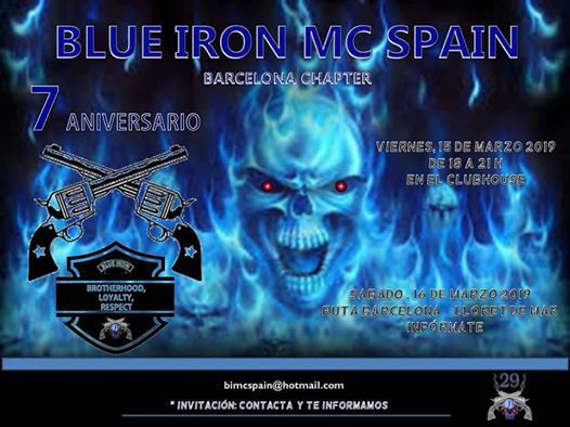 7 Aniversario BLUE IRON MC SPAIN Original (BARCELONA)