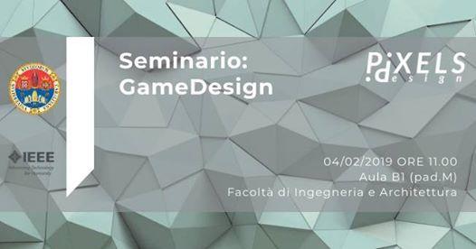 Seminario Game Design by PixelsDesign