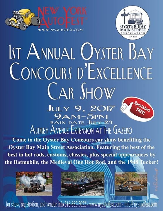 New York AutoFest Concours DExcellence At Audrey Ave Oyster Bay NY - New york autofest car show