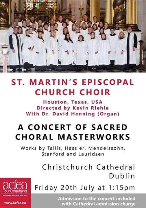 Lunchtime Recital St Martins Episcopal Choir Houston Texas