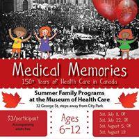 Medical Memories Summer Family Program
