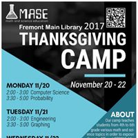 Math and Science Education Thanksgiving Camp