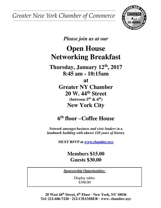 Open House Networking Breakfast
