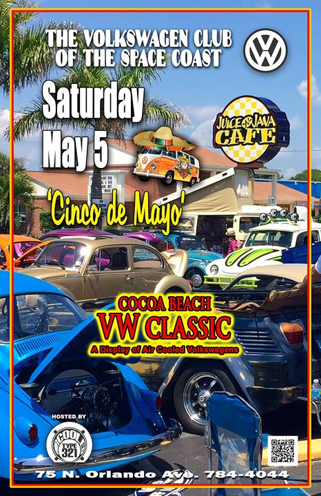 Cocoa Beach VW Car Show At Juice N Java Cafe Cocoa Beach - Car show orlando classic weekend
