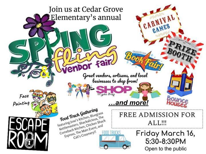 Cedar Grove Elementarys Spring Fling Carnival Vendor Fair Smyrna