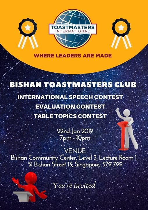 Bishan Toastmasters Club Stars Reaching for the Stars