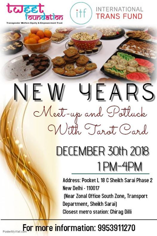 new year 2019 meet up and potluck with tarot card