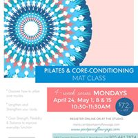 Pilates &amp CoreConditioning Mat Class 4weeks starting Apr. 24
