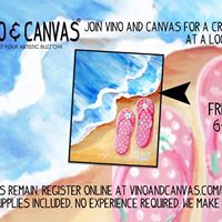 Vino and Canvas &quotFlip Flops&quot Painting Class